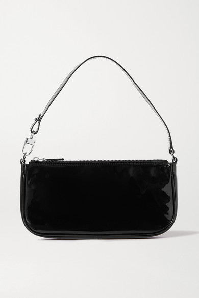 By Far | BY FAR - Rachel Patent-leather Shoulder Bag - Black | Clouty