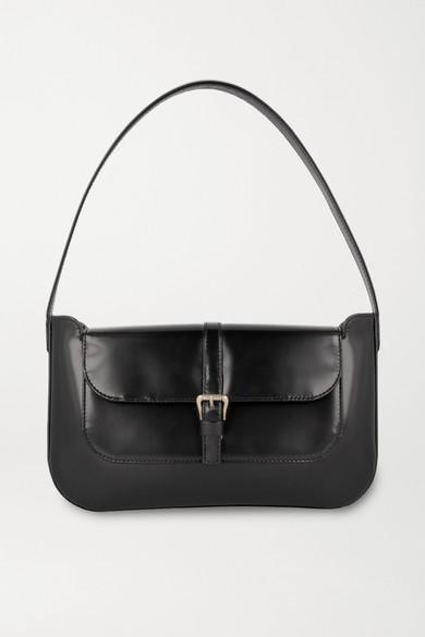 By Far   BY FAR - Miranda Patent-leather Shoulder Bag - Black   Clouty