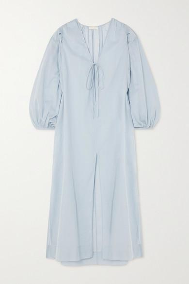 Cloe Cassandro | Cloe Cassandro - + Net Sustain Lea Organic Cotton-gauze Midi Dress - Sky blue | Clouty