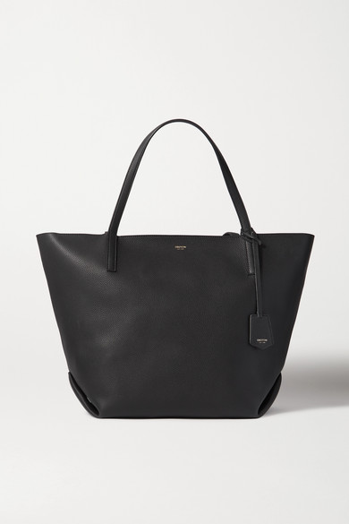 Oroton | Oroton - Duo Large Textured-leather Tote - Black | Clouty