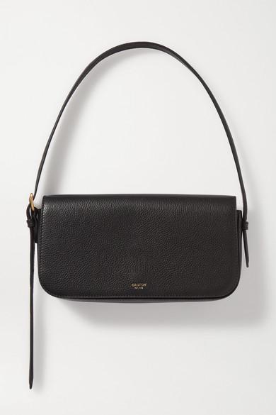 Oroton | Oroton - Anouk Textured-leather Shoulder Bag - Black | Clouty