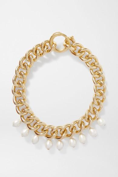 Rosantica | Rosantica - Canasta Gold-tone Faux Pearl Necklace - one size | Clouty