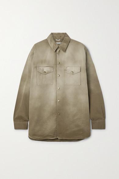 Acne Studios | Acne Studios - + Net Sustain Degrade Organic Cotton-twill Jacket - Tan | Clouty