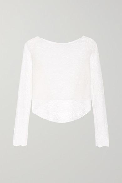 Rime Arodaky | Rime Arodaky - Perry Asymmetric Lace Top - White | Clouty