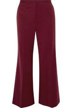 Фото Rosetta Getty - Cropped Wool-blend Twill Flared Pants - Burgundy