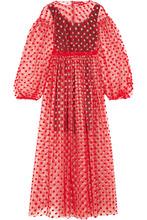 Фото Paskal - Polka-dot Flocked Tulle Dress - Red