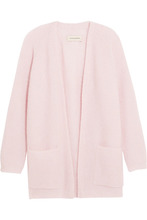 Фото By Malene Birger - Belinta Brushed Ribbed-knit Cardigan - Pastel pink