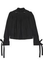 Фото Isabel Marant - Skara Broderie Anglaise-trimmed Cotton-poplin Blouse - Black