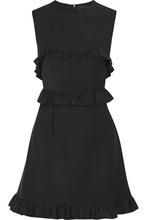 Фото Paskal - Ruffled Stretch Wool-blend Mini Dress - Black