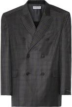 Фото Balenciaga - Checked Wool Blazer - Gray