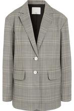 Фото Tibi - Jasper Oversized Checked Woven Blazer - Gray