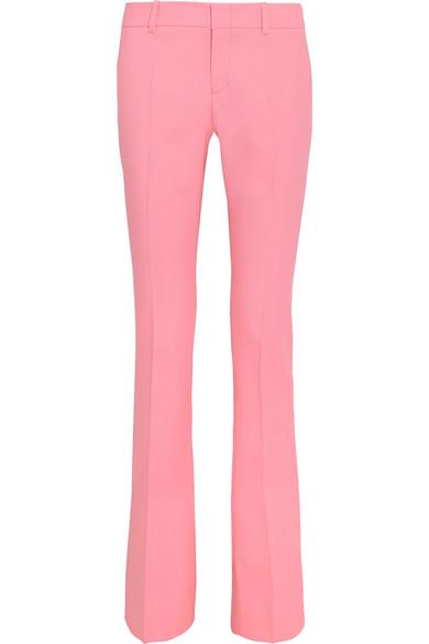 GUCCI | Gucci - Stretch-wool Bootcut Pants - Pastel pink | Clouty