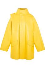 Фото Balenciaga - Oversized Leather Jacket - Yellow