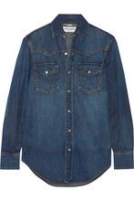 Фото Saint Laurent - Classic Denim Shirt - Mid denim