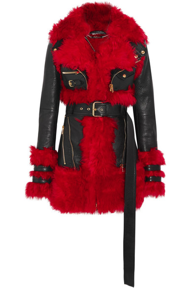 Alexander McQueen | Alexander McQueen - Shearling-lined Leather Jacket - Black | Clouty
