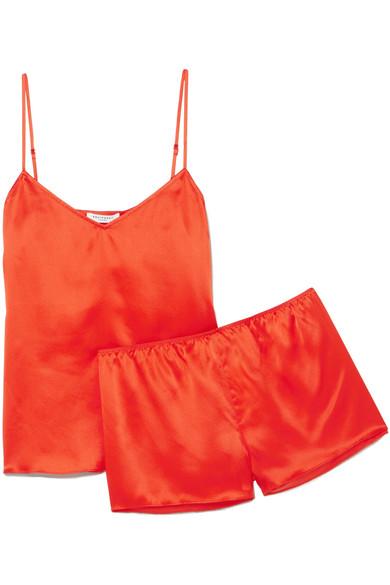 Equipment   Equipment - Alexy Silk-satin Pajama Set - Red   Clouty