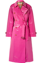 Burberry - The Eastheath Coated-cotton Trench Coat - Bright pink