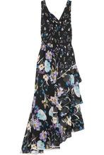 3.1 Phillip Lim - Tiered Floral-print Silk-crepon Maxi Dress - Black