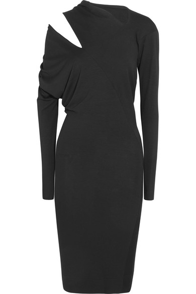 Vivienne Westwood Anglomania | Vivienne Westwood Anglomania - Timans Cutout Draped Stretch-jersey Dress - Black | Clouty