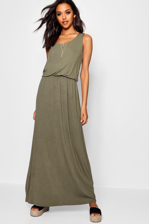 Boohoo | Платье макси со спиной-борцовкой | Clouty