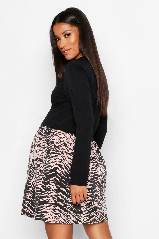 Boohoo | Свободное спортивное платье для беременных | Clouty