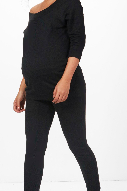 Boohoo   комплект для отдыха топ с вырезом лодочкой для беременных   Clouty