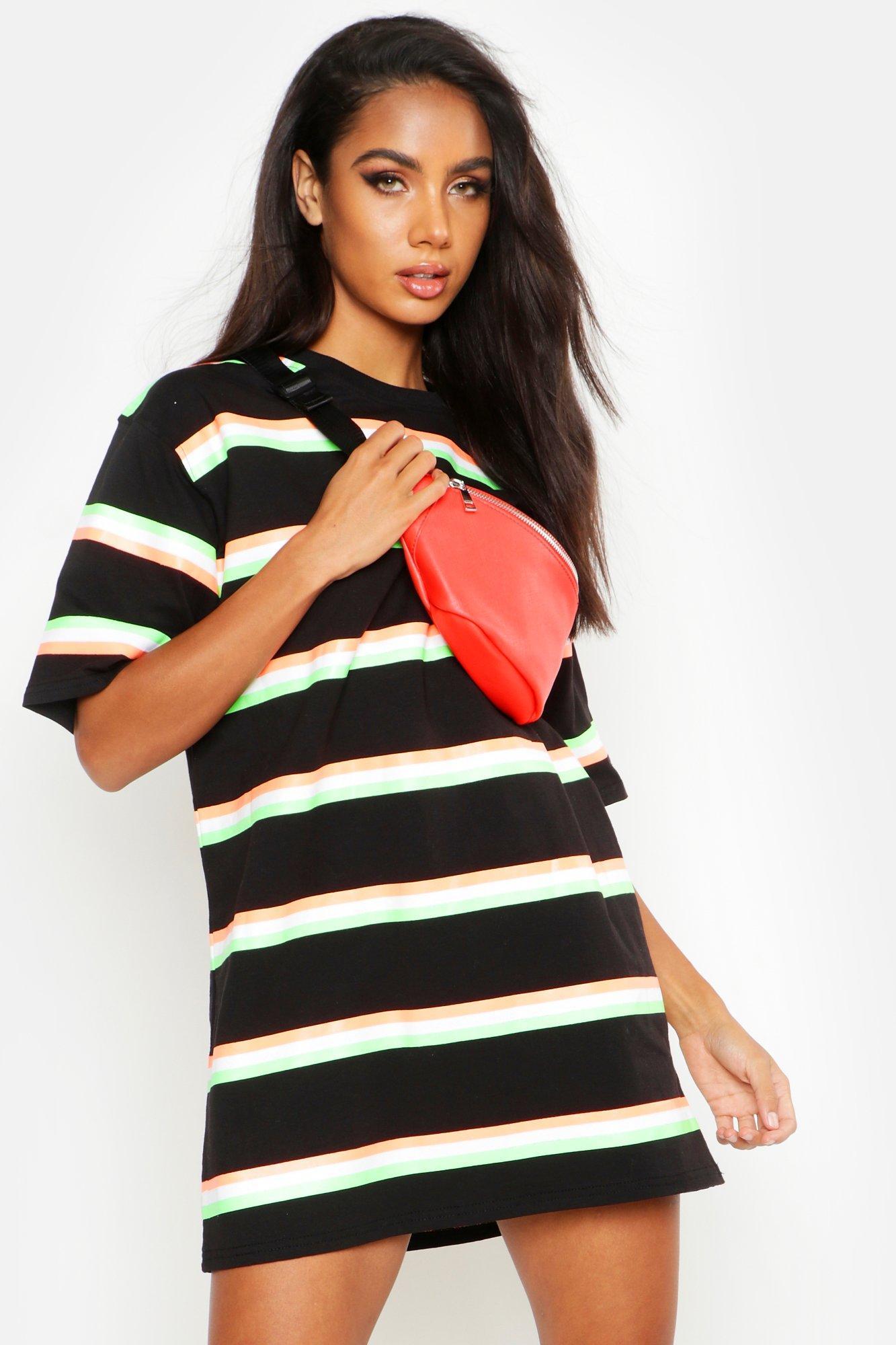 Boohoo | Неоновая поясная сумка с узором решеткой | Clouty