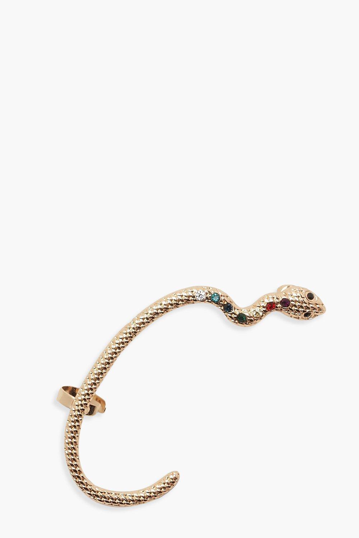 Boohoo | Крупные серьги-каффы в виде змеи | Clouty