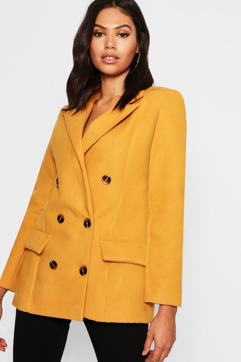Boohoo | Double Breasted Wool Look Blazer | Clouty