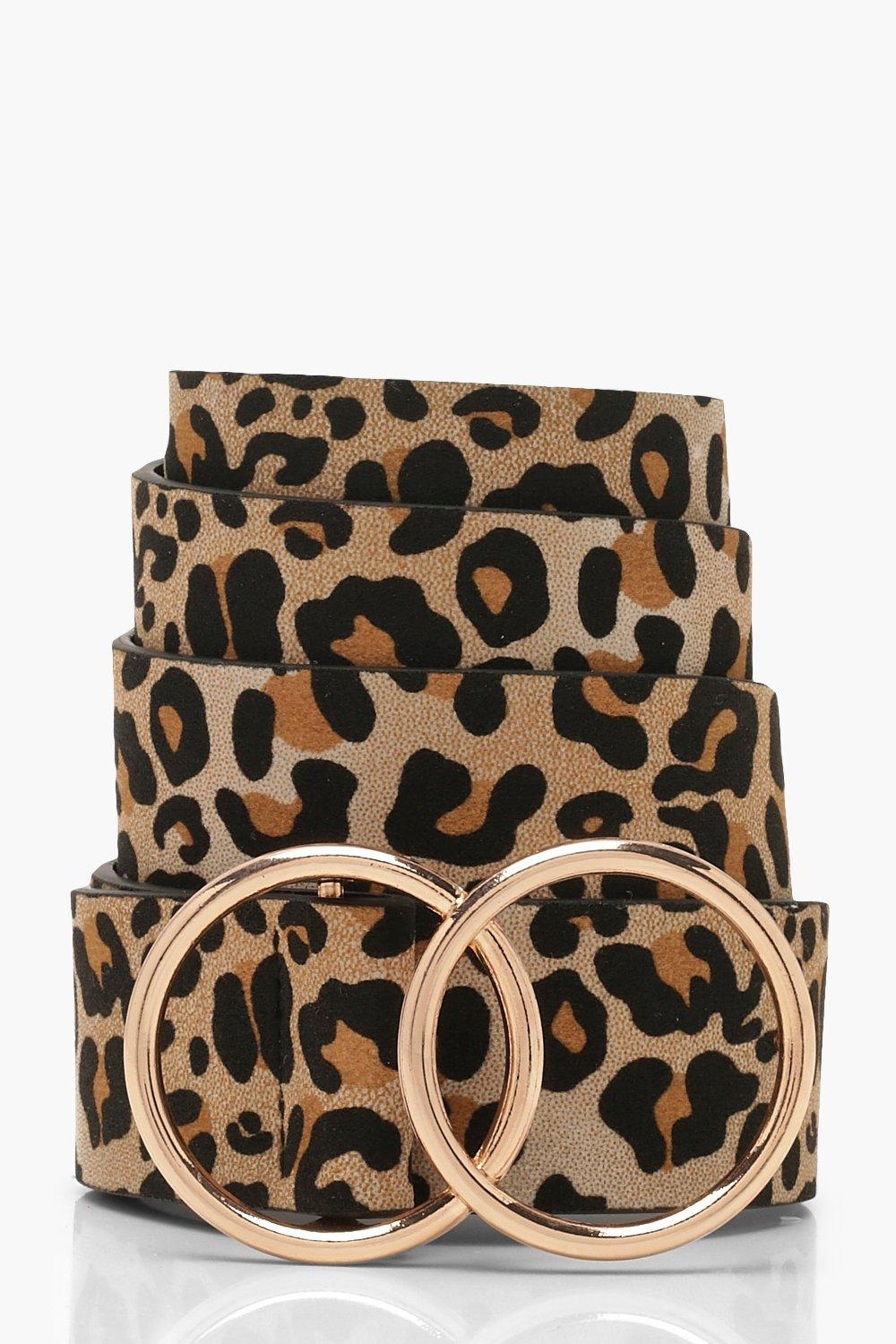 Boohoo | Leopard Belt With Gold Double Ring | Clouty