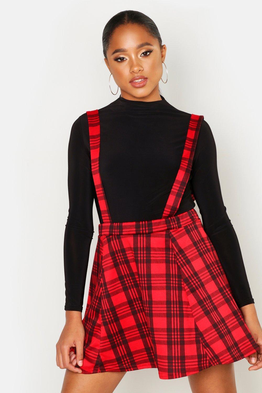 Boohoo | Сарафан с юбкой в шотландскую клетку | Clouty