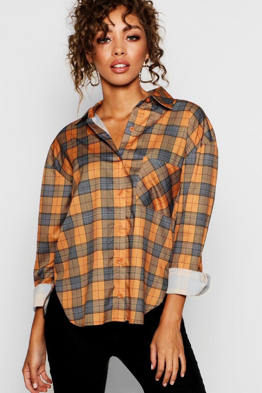 Boohoo | Объемная рубашка в клетку | Clouty
