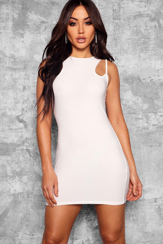 Boohoo | Облегающее платье с вырезом с бретельками и спиной-борцовкой | Clouty