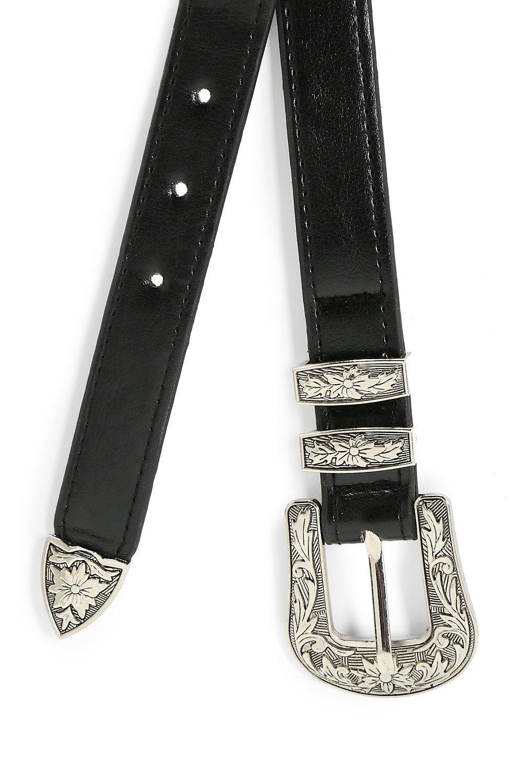 Boohoo | Большая из искусственной кожи с пряжками и эластичными Ремень в ковбойском стиле | Clouty