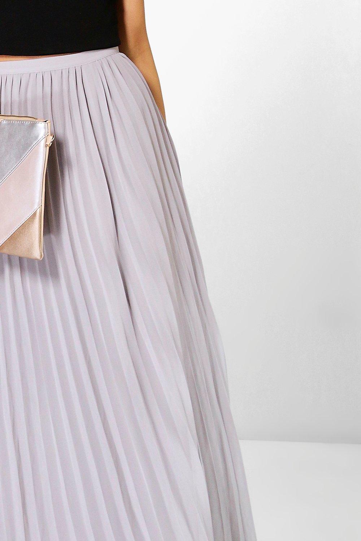 Boohoo | Плиссированная макси-юбка из шифона | Clouty