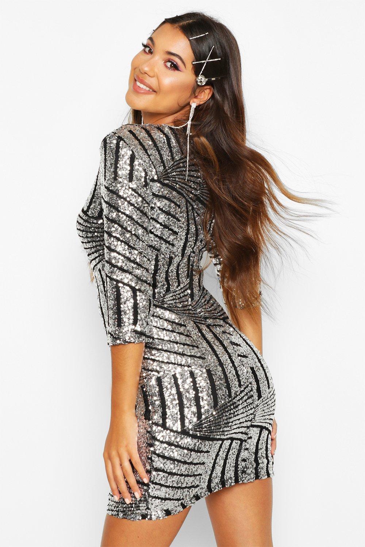 Boohoo | Облегающее платье Boutique с блестками | Clouty