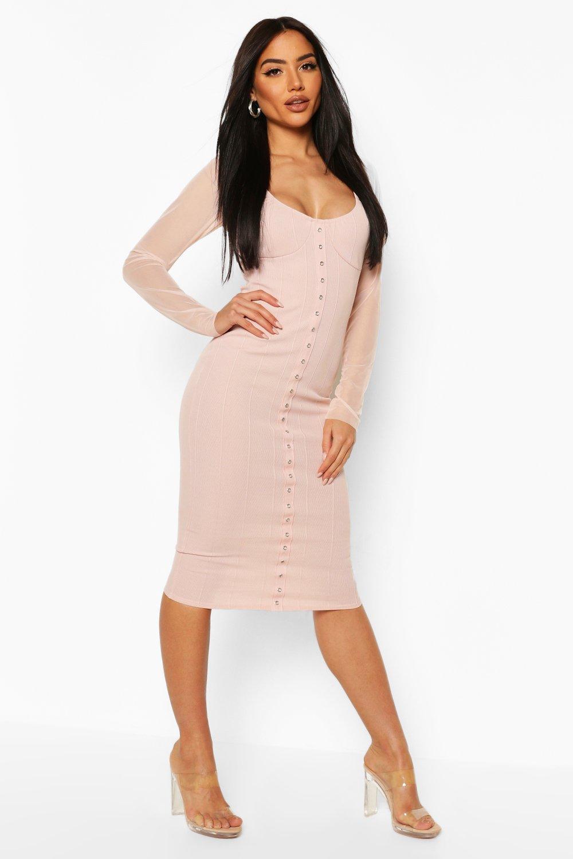 Boohoo | Платье с люверсами и корсетом | Clouty
