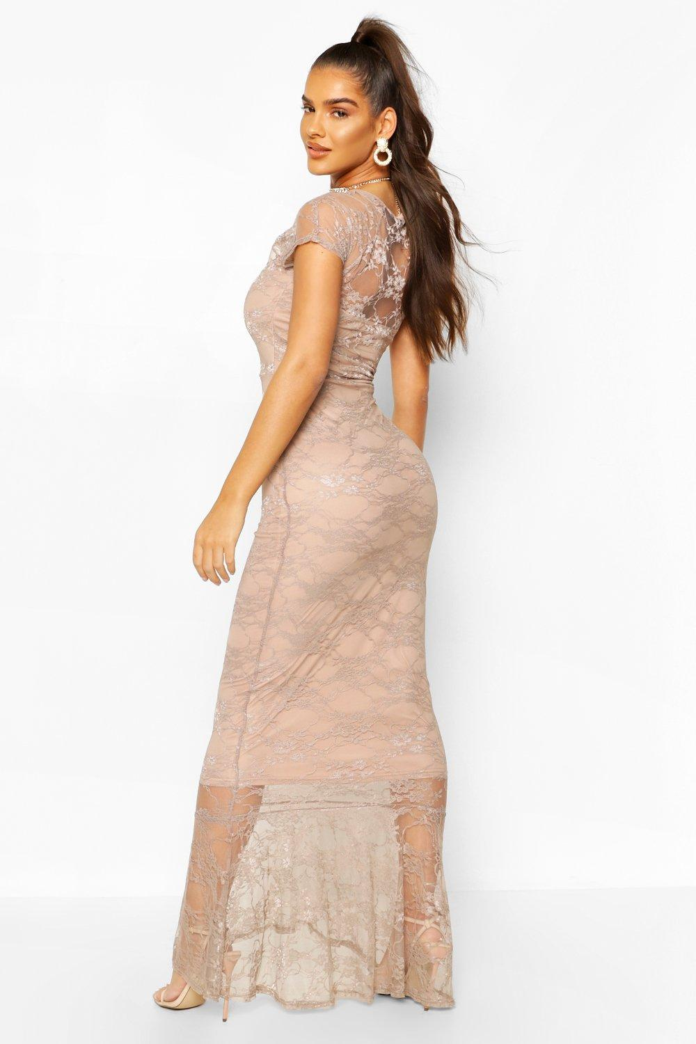 Boohoo | Full Lace Maxi Dress | Clouty
