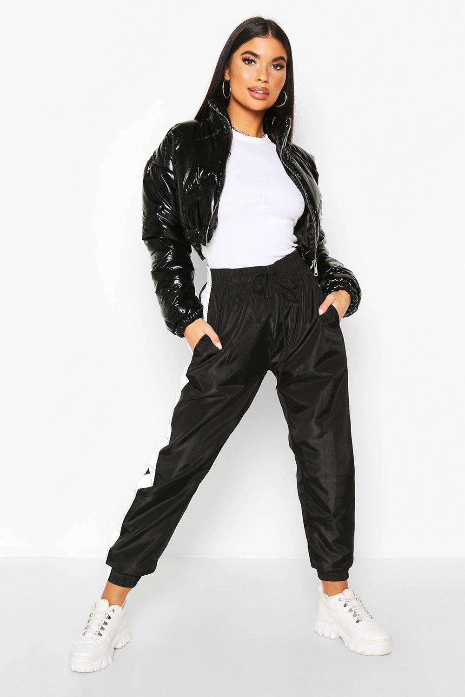 Boohoo | Блестящая укороченная куртка с мягкой подкладкой | Clouty
