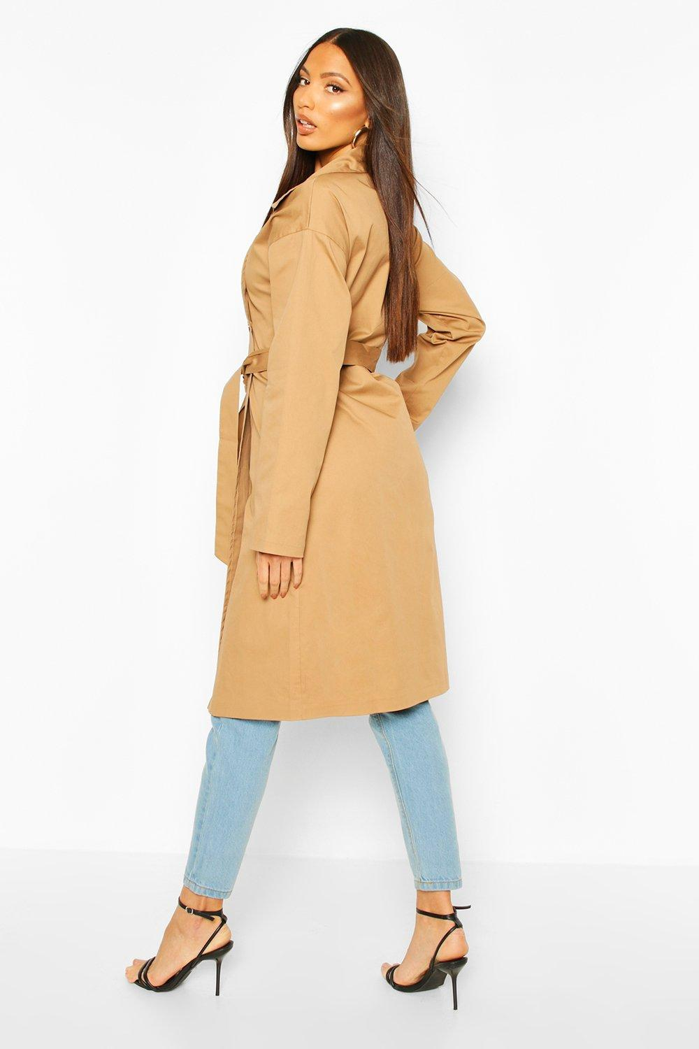 Boohoo | Button Detail Mac Trench Coat | Clouty