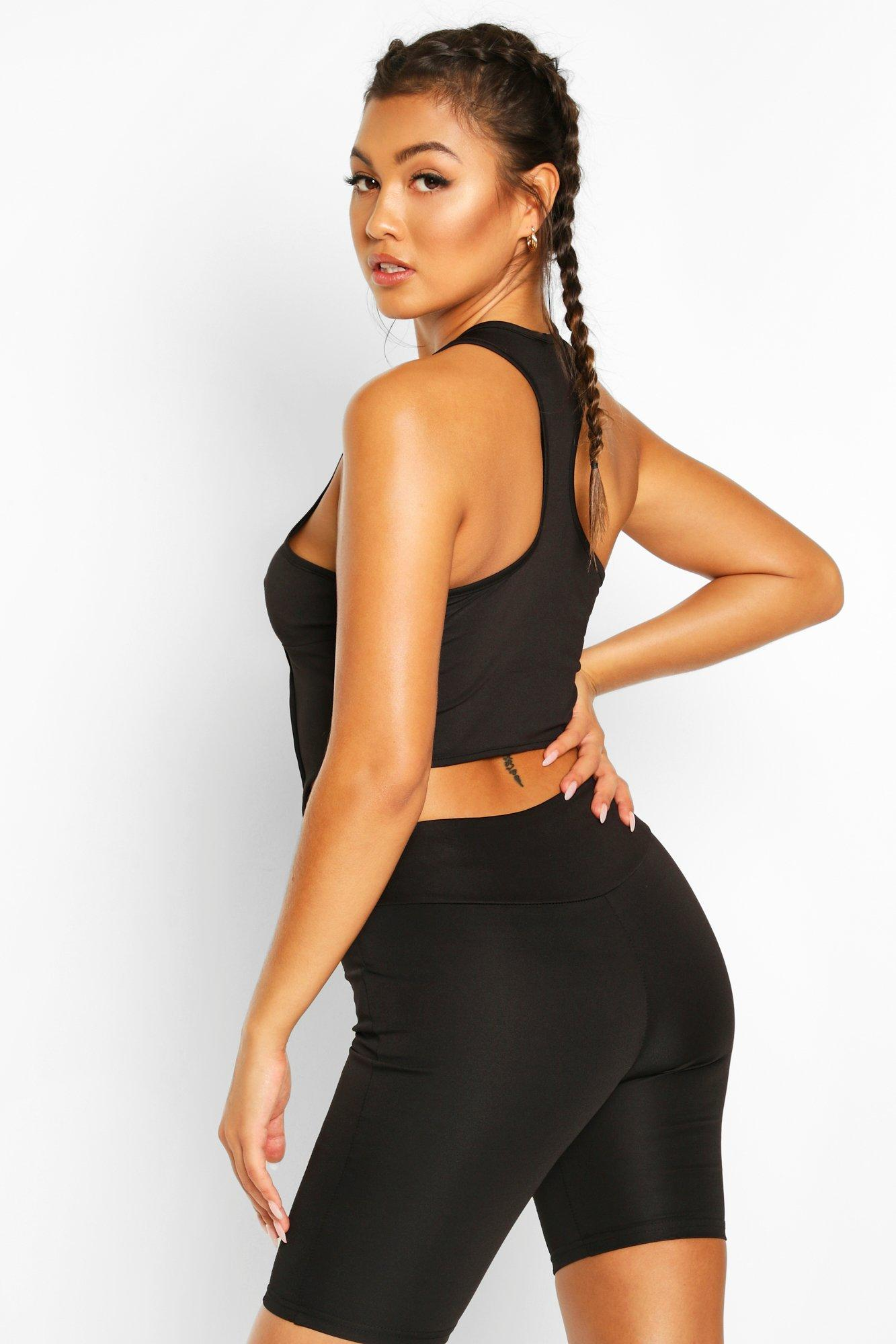 Boohoo | Fit Contour Stitch Gym Top | Clouty