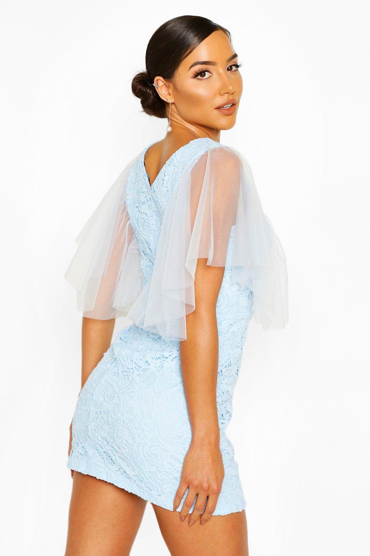 Boohoo   Платье мини из плотного кружева с сеткой   Clouty