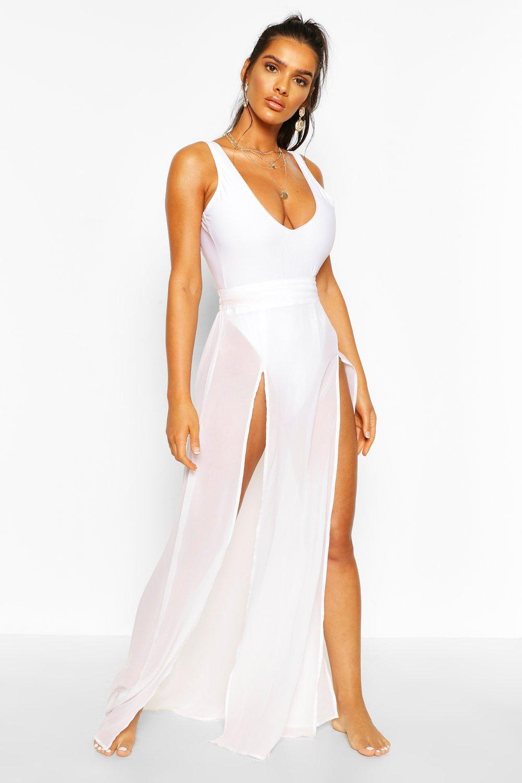 Boohoo | Пляжная юбка макси с разрезами | Clouty