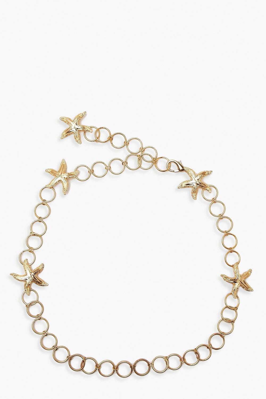 Boohoo | Ремень с цепочкой и кольцом в виде морской звезды | Clouty