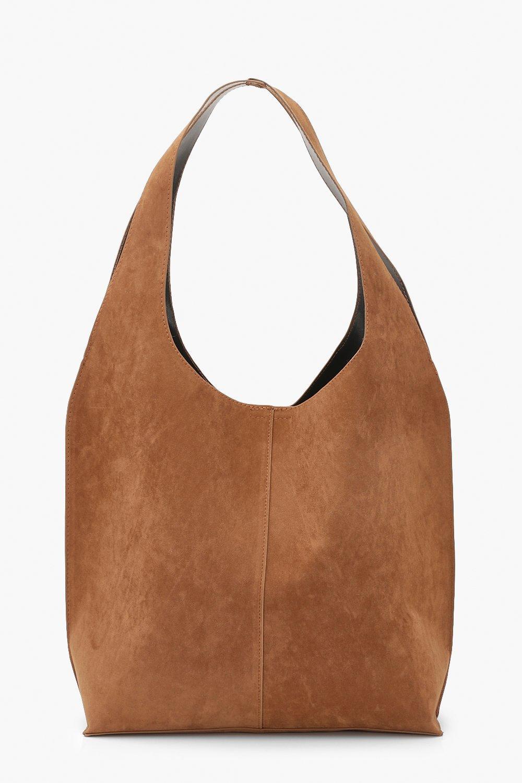 Boohoo | Мешковатая сумка-хобо из искусственной замши | Clouty