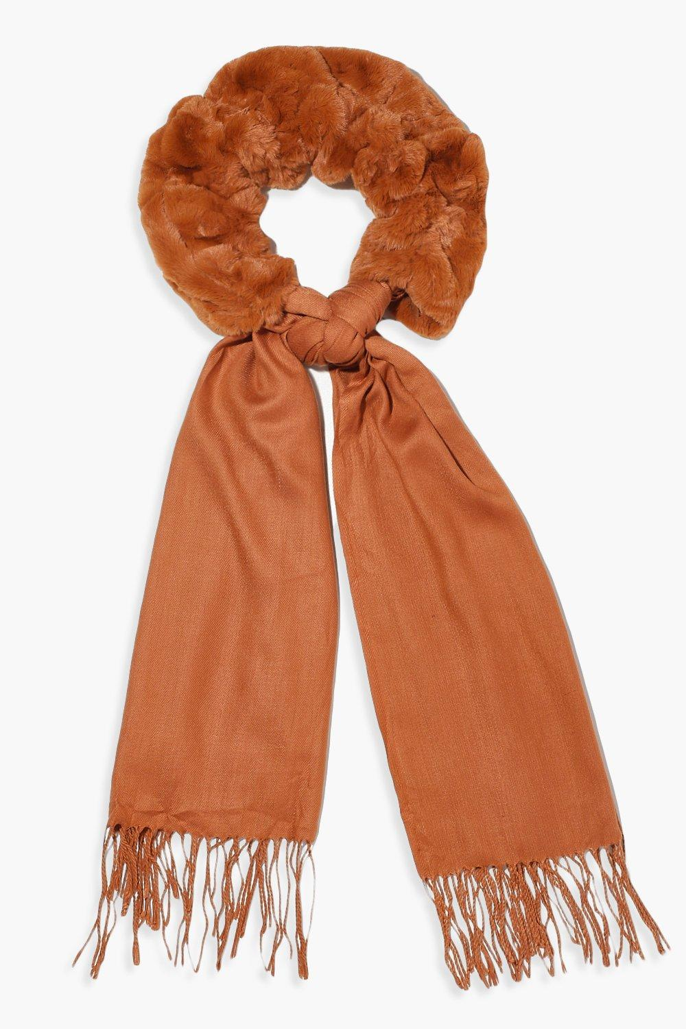 Boohoo | Mixed Faux Fur Combo Scarf | Clouty