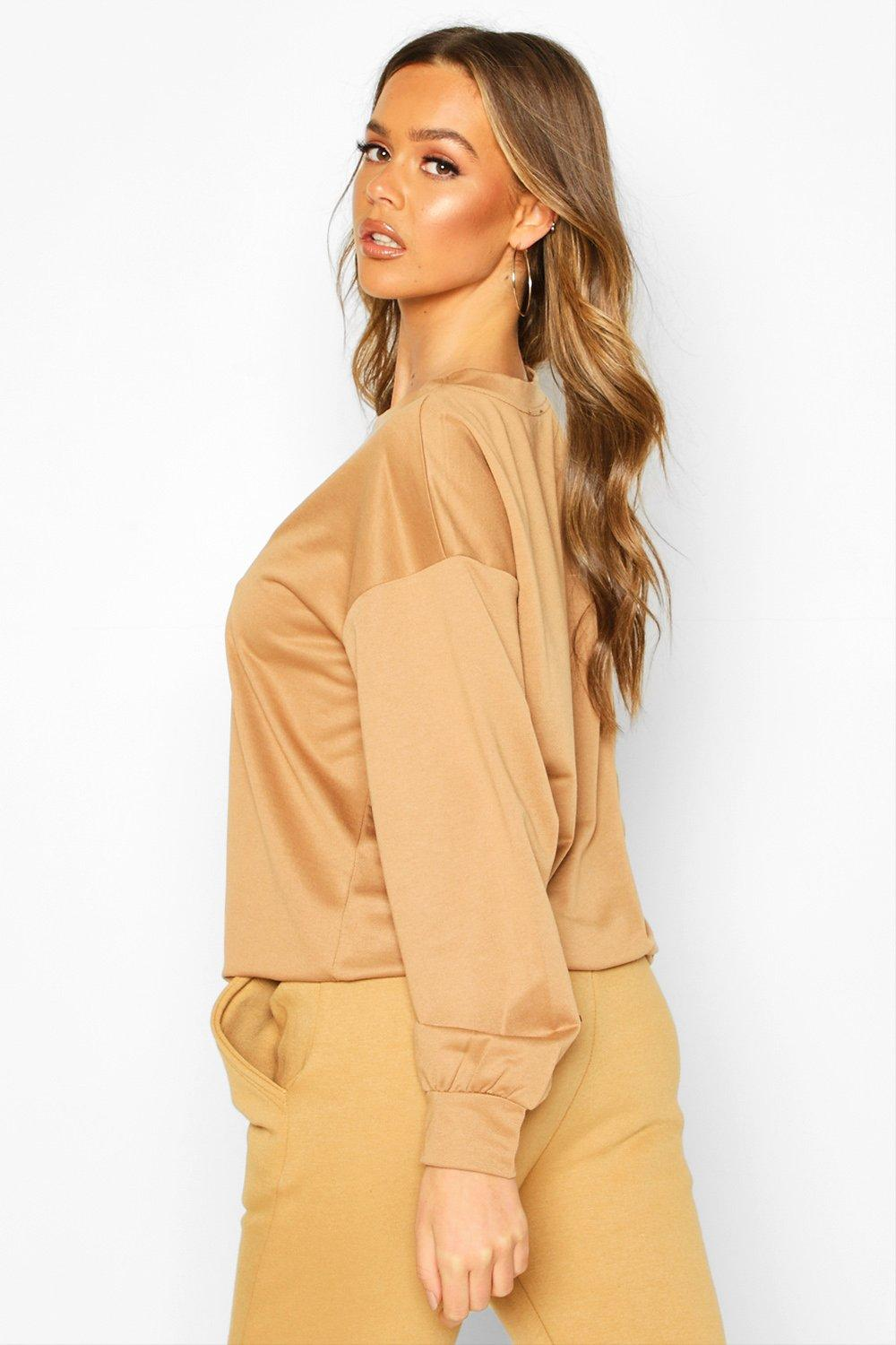 Boohoo | Woman Embroidered Oversized Sweater | Clouty