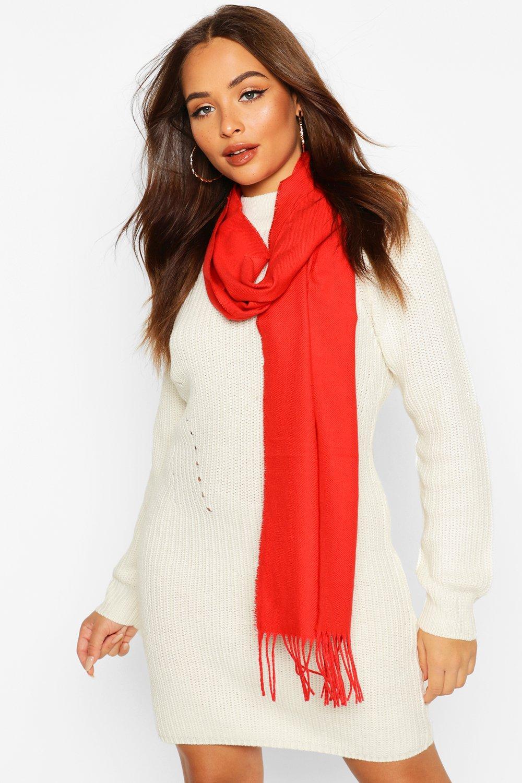 Boohoo | Базовый шарф с бахромой и кисточками | Clouty