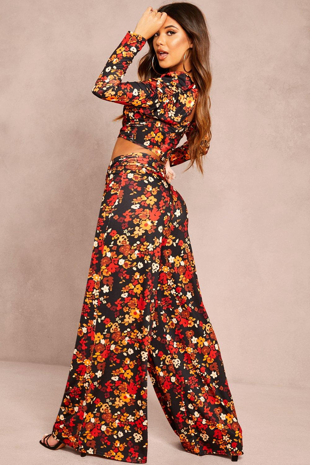 Boohoo | Recycled Floral Print Top & Trouser Co-ord | Clouty