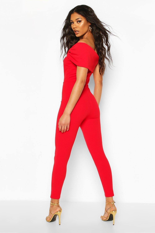 Boohoo | Комбинезон с широкими штанинами с цветочным принтом и с открытыми плечами | Clouty